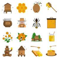 Honig Icons Set vektor