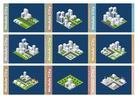 Satz städtischer Bereiche von Modulen