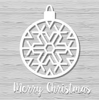 Weihnachtsschneeflockeverzierung vektor