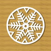 Jul snöflinga prydnad
