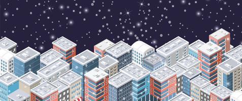 Jul vinter stad bakgrund vektor