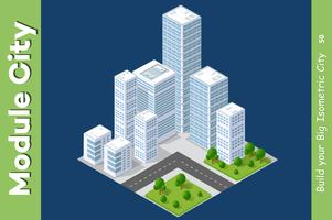 Satz städtischer Bereiche von Modulen vektor
