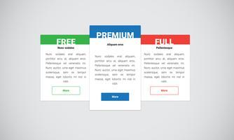 Sauberes und modernes Websiteelement, Vektorillustration vektor
