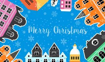 Jul vinterlandskap vektor