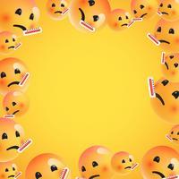Gruppe hohe ausführliche gelbe Emoticons, Vektorillustration vektor