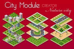 Konzept des städtischen Infrastrukturgeschäfts. vektor