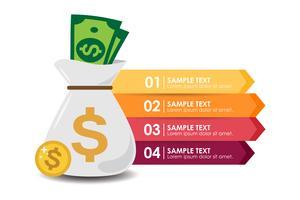 Geld-Infografik vektor