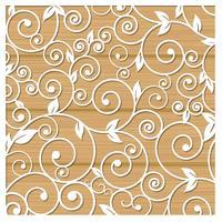 Laserschneiden von Schablonen für dekorative Kunst vektor
