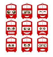 Emoji-Emoticon-Ausdrucksikonen vektor