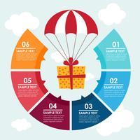 Geschenk-Infografik vektor