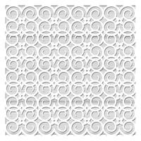 Laserschneiden von Schablonen für dekorative Kunst