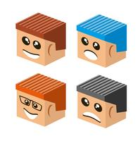 Emoji-Emoticon-Ausdruck vektor