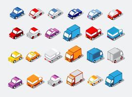 Isometrisch gesetzte Autos