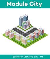 Megapolis stadskvarter vektor