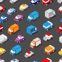 Sömlöst mönster av bilar