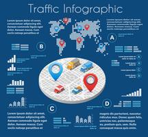 infographics of urban road vektor