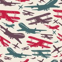 Flugzeug retro nahtlose Vorlage vektor