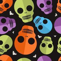 Skalle Halloween Mönster vektor