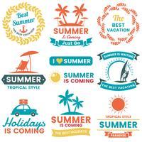 Sommar Retro Vector Logo för banner