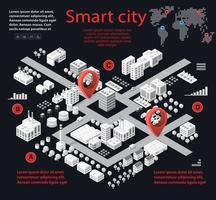 Smart stad isometrisk vektor