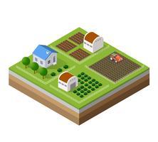 Bauernhof Reihe von Häusern