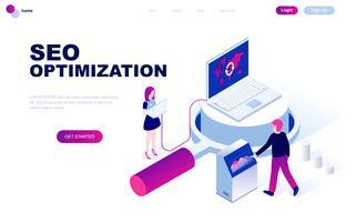 Modern plandesign isometrisk koncept av Seo Analysis