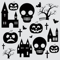 Pumpa Halloween uppsättning vektor