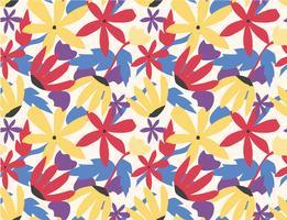 sömlös mönster färgstark blomma popkonst stil