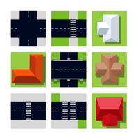 Draufsicht auf Stadtplan