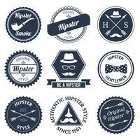 Hipster etikettuppsättning vektor