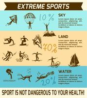 Extreme sport infographic vektor