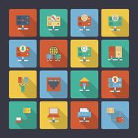 Hosting von flachen Icons