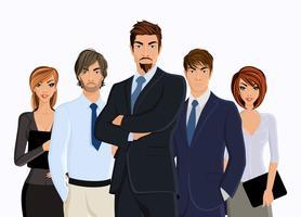 Grupp affärsmän