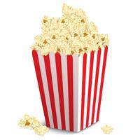 Popcorn låda isolerad vektor