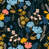 Abstrakte nahtlose mit Blumenmuster. vektor