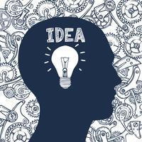 Glühbirne Mann Idee vektor
