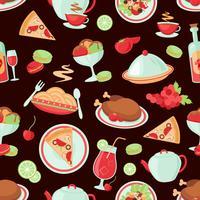 Restaurang sömlöst mönster