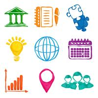 Måla företagsikoner vektor