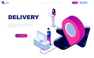 Modernt plandesign isometrisk koncept för Worldwide Delivery