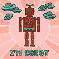 Hipster-Roboter-Design