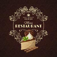 Godis efterrätt restaurangmeny vektor