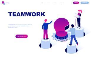 Isometrisches Konzept des modernen flachen Designs der Teamwork vektor