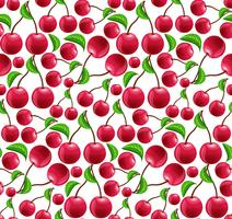 Cherry seamless mönster