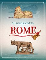 Rom retro affisch vektor