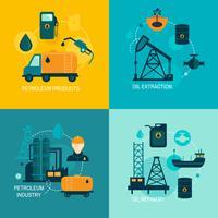 Flache Zusammensetzung der Erdölindustrie