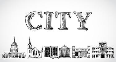 City stad bakgrund vektor
