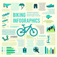Cykel ikoner infographic vektor