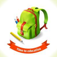 Ryggsäck utbildning ikon vektor