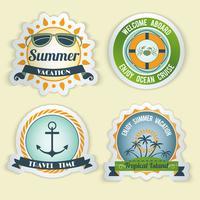 Sommar havet emblem