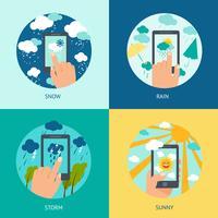 Väder smart telefonuppsättning